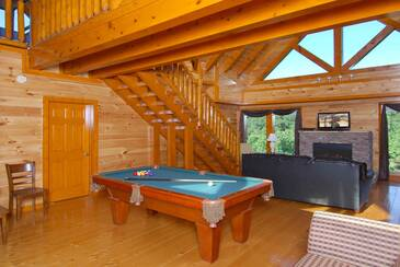 Pool Table/Game Area a